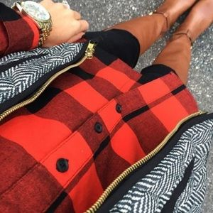 Old Navy Red Buffalo Plaid Flannel